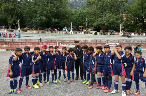 WOODBRIDGE SCHOOL'S 4'9'' FOOTBALL TEAM WINS AGAINST NAINI PUBLIC SCHOOL BY 4-0